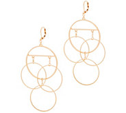 The Claire - Dangle Earrings of Connecting Hoops - J357927