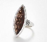 Michael Dawkins Sterling Silver Smoky Quartz Marquise Ring, 12.50 cts - J360527