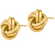 Italian Gold Double Love Knot Stud Earrings, 14K - J385727