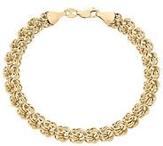 EternaGold 7-1/4 Rosette Bracelet, 14K Gold - J386227