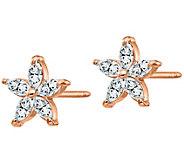 Moissanite 0.60 cttw Flower Earrings, 14K Gold - J388427