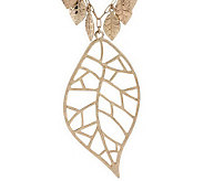 As Is Jessica Simpson Leaf Collection Necklace with Leaf Pendant - J152228