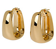 Veronese 18K Clad Tapered Square Hoop Earrings - J299028