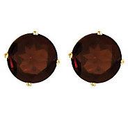 Large Round Gemstone Stud Earrings, 14K Gold - J314028