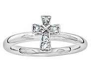 Simply Stacks Sterling Birthstone Cross Ring - J314828