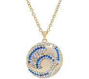 Grace Kelly Collection Swirling Sea Reversible Pendant w/Chain - J346328