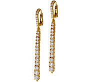 Judith Ripka Sterling or 14K Clad Graduated Diamonique Line Earrings - J348628