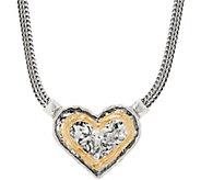 Or Paz Sterling Silver 17 Heart Necklace - J350228