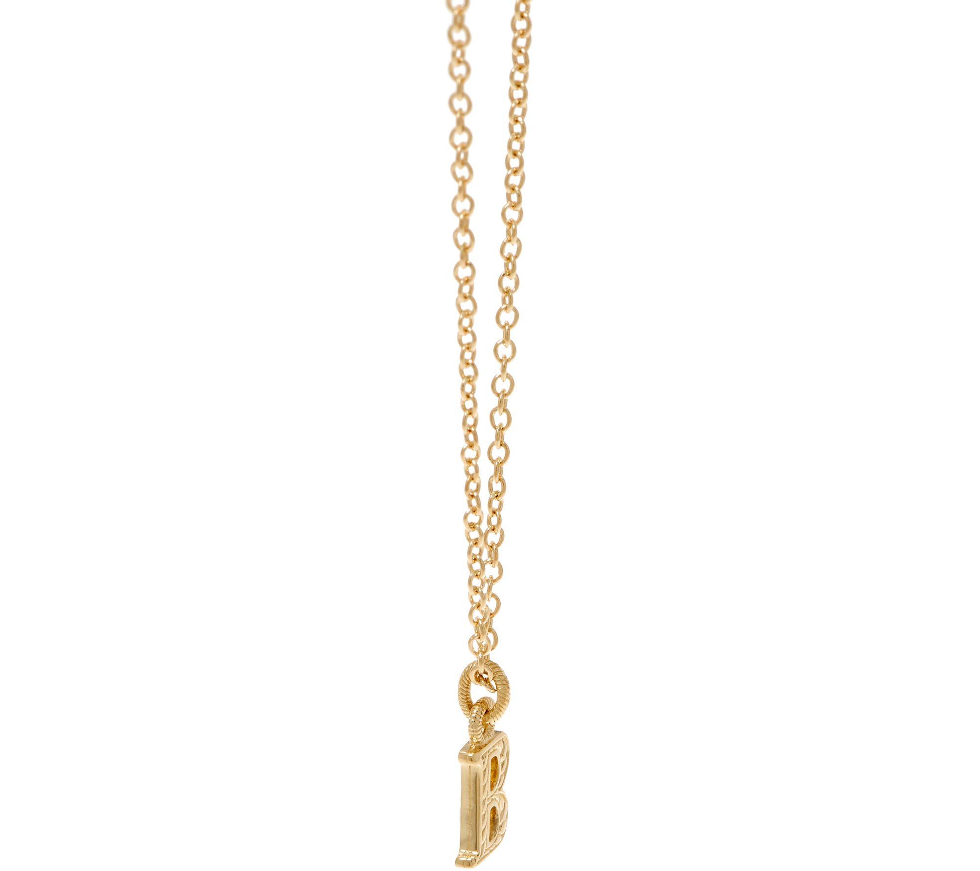 5faf6ffab0bf9 Judith Ripka 14K Gold Initial Necklace — QVC.com