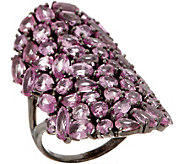 Pink Sapphire Ring, 10.50 cttw, Sterling Silver - J357228