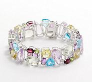 Sterling Silver Springtone Gemstone Bracelet, 100.00 cttw - J360328