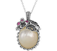 Or Paz Sterling Mother of Pearl Pendant w/ Chai n - J379328