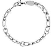Italian Silver Link Bracelet Sterling, 12.3g - J379728