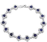 14K Gold 5.20 cttw Sapphire & 1.00 cttw DiamondBracelet - J382328