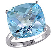 14K 18.45 cttw Blue Topaz Cocktail Ring - J392328