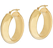EternaGold Bold Polished Tube Hoop Earrings 14KGold - J393428