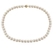 Honora Cultured Pearl 9.0mm Semi-Round 20 Necklace, 14K - J102629