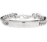 Italian Silver Sterling Personalized ID Bracelet - J340929