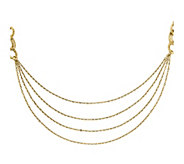 14K Gold Four Layer Rope 18 Necklace - J342829