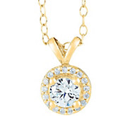 Round Diamond Halo Pendant, 14K Yellow, 3/4 cttw,by Affinity - J345029