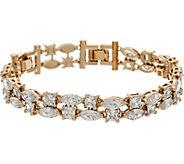 Grace Kelly Collection Simulated 2 Row Diamond Tennis Bracelet - J346329