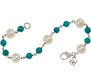 Honora Cultured Pearl & Gemstone Bead Bracelet Sterling Silver - J354629