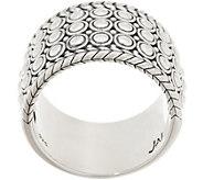 JAI Sterling Silver Kalahari Wide Band Ring - J358829