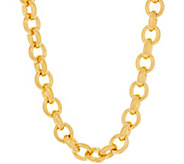 As Is Oro Nuovo Bold Oval Rolo Link 18 Necklace, 14K - J359029