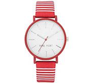 Nine West Womens Red & White Striped Watch - J384329