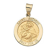 14K Yellow Gold St. Anthony Hollow Medal - J108230