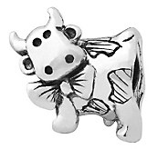 Prerogatives Sterling Dairy Cow Bead - J110030