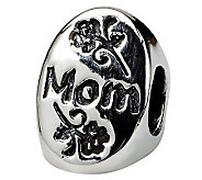 Prerogatives Sterling Silver #1 Mom Trilogy Oval Bead - J111330