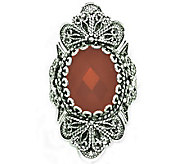 Artisan Crafted Sterling Ornate Design GemstoneRing - J309530