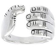 JAI Sterling Silver I Love Band Ring - J330430