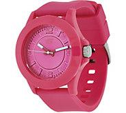 Skechers Womens Pink Silicone Strap Watch - Rosencrans - J348030