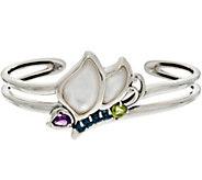 Carolyn Pollack Sterling Silver Gemstone Butterfly Cuff 20.5g - J348330