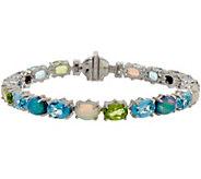 Judith Ripka Sterling 7-1/4 15.50 cttw Multi Gemstone Tennis Bracelet - J350330