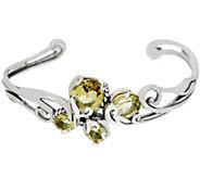 Carolyn Pollack Capri 8.00cttw Sterling Silver Cluster Cuff Bracelet - J355130