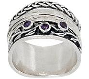Or Paz Sterling Silver Gemstone Spinner Ring - J359630