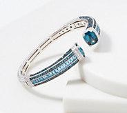 Judith Ripka Sterling Silver Blue Topaz Cuff, 15.70 cttw - J360730