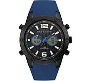 Sean John Mens Analog Digital Blue Silicone Watch - J380830