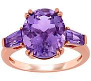 14K Rose Gold 4.40 cttw Amethyst Three Stone Ring - J392530