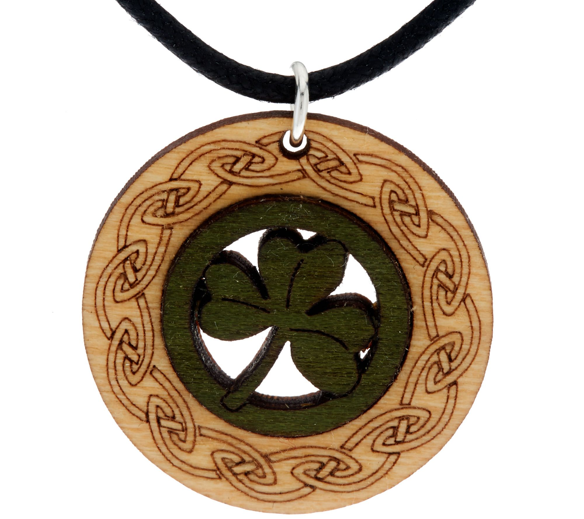Monson jewellery wooden pendant with cord necklace page 1 qvc aloadofball Choice Image