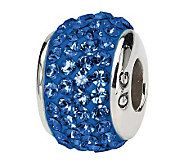 Prerogatives Sterling Medium Blue Full Swarovski Crystal Bead - J299631