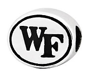 Sterling Silver Wake Forest University Bead - J300831