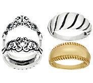 Carolyn Pollack Sterling & Brass Signature Design Ring Set - J323731
