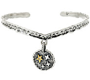 Jennifer Nettles Believe Sterling/Brass Diamond Accent Cuff - J323931