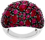 Precious Gemstone Multi-Cut Sterling Silver Ring, 5.00 cttw - J330831