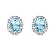 Premier 1.65ct Aquamarine & 1/5cttw Diamond Earrings, 14K - J336131