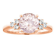 Premier 1.90cttw Morganite & 1/5cttw Diamond Ring, 14K - J336231
